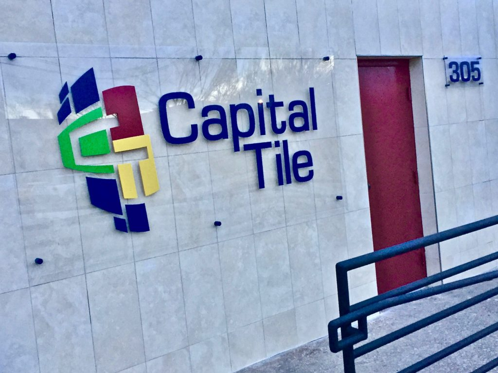 Front Entrance of the Capital Tile Home Office