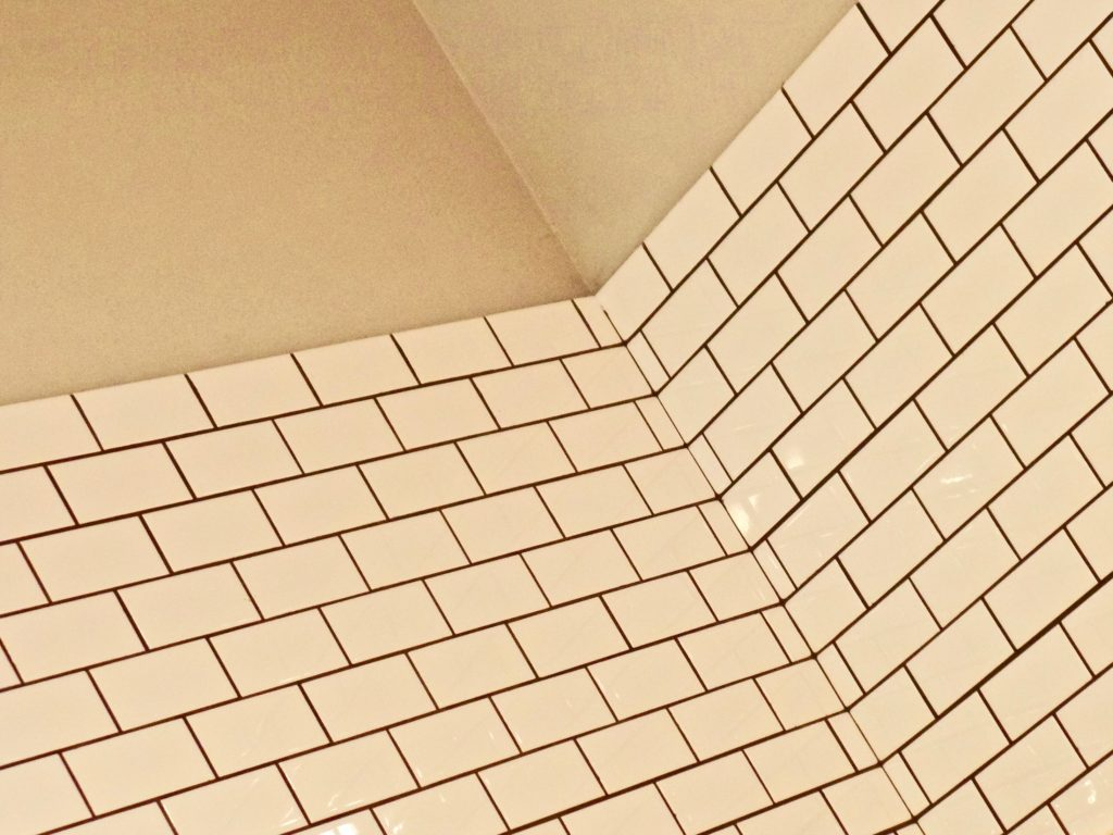 Close up photo of an inward wall corner